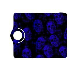 Sparkling Glitter Skulls Blue Kindle Fire Hdx 8 9  Flip 360 Case by ImpressiveMoments
