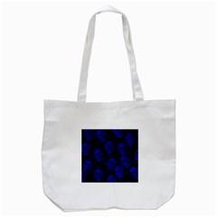 Sparkling Glitter Skulls Blue Tote Bag (white) by ImpressiveMoments