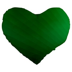 Green Beach Fractal Backdrop Background Large 19  Premium Flano Heart Shape Cushions by Simbadda
