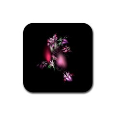 Colour Of Nature Fractal A Nice Fractal Coloured Garden Rubber Square Coaster (4 Pack)  by Simbadda