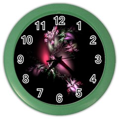 Colour Of Nature Fractal A Nice Fractal Coloured Garden Color Wall Clocks by Simbadda