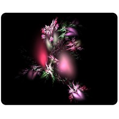 Colour Of Nature Fractal A Nice Fractal Coloured Garden Fleece Blanket (medium)  by Simbadda