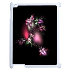 Colour Of Nature Fractal A Nice Fractal Coloured Garden Apple iPad 2 Case (White) by Simbadda