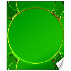 Green Circle Fractal Frame Canvas 8  X 10  by Simbadda
