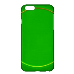 Green Circle Fractal Frame Apple Iphone 6 Plus/6s Plus Hardshell Case by Simbadda