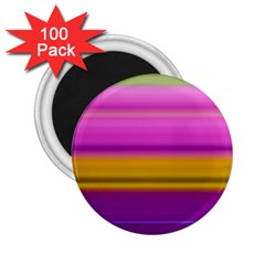 Stripes Colorful Background Colorful Pink Red Purple Green Yellow Striped Wallpaper 2 25  Magnets (100 Pack)  by Simbadda