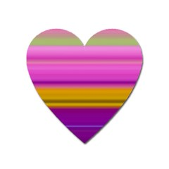 Stripes Colorful Background Colorful Pink Red Purple Green Yellow Striped Wallpaper Heart Magnet by Simbadda