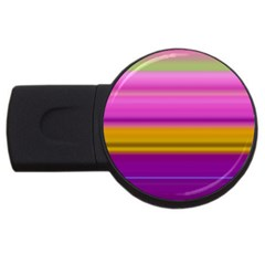 Stripes Colorful Background Colorful Pink Red Purple Green Yellow Striped Wallpaper Usb Flash Drive Round (2 Gb) by Simbadda