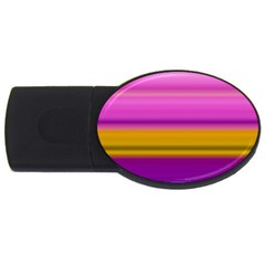 Stripes Colorful Background Colorful Pink Red Purple Green Yellow Striped Wallpaper Usb Flash Drive Oval (2 Gb) by Simbadda