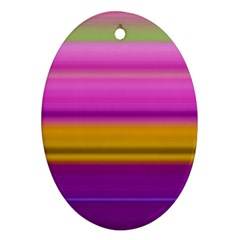 Stripes Colorful Background Colorful Pink Red Purple Green Yellow Striped Wallpaper Oval Ornament (two Sides) by Simbadda