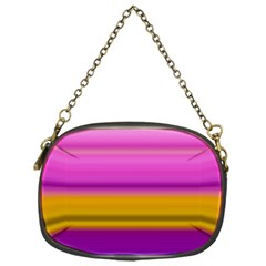 Stripes Colorful Background Colorful Pink Red Purple Green Yellow Striped Wallpaper Chain Purses (One Side)  by Simbadda