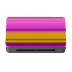 Stripes Colorful Background Colorful Pink Red Purple Green Yellow Striped Wallpaper Memory Card Reader With Cf by Simbadda