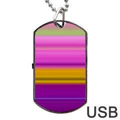 Stripes Colorful Background Colorful Pink Red Purple Green Yellow Striped Wallpaper Dog Tag Usb Flash (one Side) by Simbadda