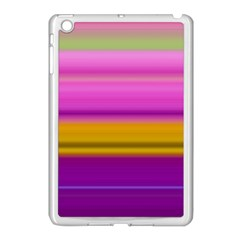 Stripes Colorful Background Colorful Pink Red Purple Green Yellow Striped Wallpaper Apple Ipad Mini Case (white) by Simbadda