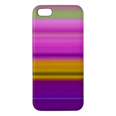 Stripes Colorful Background Colorful Pink Red Purple Green Yellow Striped Wallpaper Apple Iphone 5 Premium Hardshell Case by Simbadda