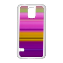 Stripes Colorful Background Colorful Pink Red Purple Green Yellow Striped Wallpaper Samsung Galaxy S5 Case (white) by Simbadda