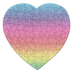 Watercolor Paper Rainbow Colors Jigsaw Puzzle (heart) by Simbadda