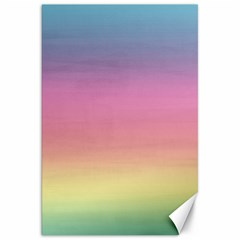 Watercolor Paper Rainbow Colors Canvas 20  X 30   by Simbadda