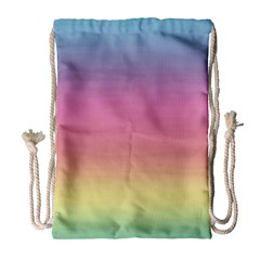 Watercolor Paper Rainbow Colors Drawstring Bag (large) by Simbadda