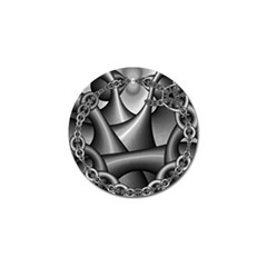 Grey Fractal Background With Chains Golf Ball Marker by Simbadda