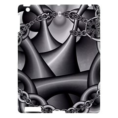 Grey Fractal Background With Chains Apple iPad 3/4 Hardshell Case