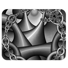Grey Fractal Background With Chains Double Sided Flano Blanket (medium)  by Simbadda