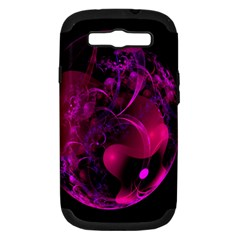 Fractal Using A Script And Coloured In Pink And A Touch Of Blue Samsung Galaxy S Iii Hardshell Case (pc+silicone) by Simbadda