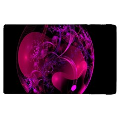 Fractal Using A Script And Coloured In Pink And A Touch Of Blue Apple Ipad 3/4 Flip Case by Simbadda