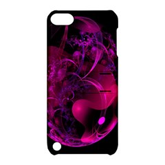 Fractal Using A Script And Coloured In Pink And A Touch Of Blue Apple Ipod Touch 5 Hardshell Case With Stand by Simbadda