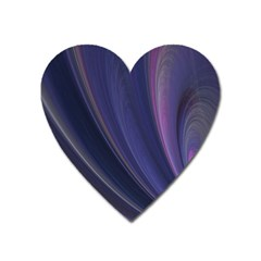 A Pruple Sweeping Fractal Pattern Heart Magnet by Simbadda