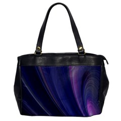 A Pruple Sweeping Fractal Pattern Office Handbags by Simbadda