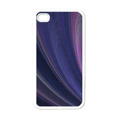 A Pruple Sweeping Fractal Pattern Apple Iphone 4 Case (white) by Simbadda