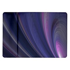 A Pruple Sweeping Fractal Pattern Samsung Galaxy Tab 10 1  P7500 Flip Case by Simbadda