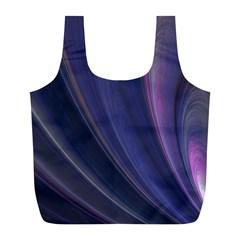 A Pruple Sweeping Fractal Pattern Full Print Recycle Bags (l)  by Simbadda