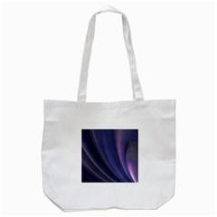 A Pruple Sweeping Fractal Pattern Tote Bag (white) by Simbadda