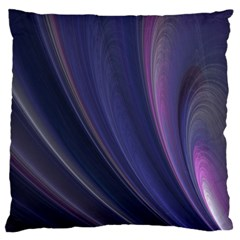 A Pruple Sweeping Fractal Pattern Standard Flano Cushion Case (two Sides) by Simbadda