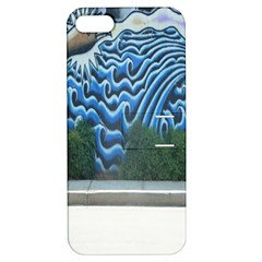 Mural Wall Located Street Georgia Usa Apple Iphone 5 Hardshell Case With Stand by Simbadda