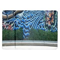 Mural Wall Located Street Georgia Usa Samsung Galaxy Tab 10 1  P7500 Flip Case by Simbadda