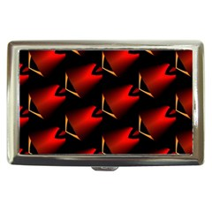 Fractal Background Red And Black Cigarette Money Cases by Simbadda