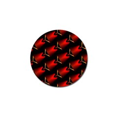 Fractal Background Red And Black Golf Ball Marker (4 Pack) by Simbadda