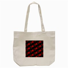 Fractal Background Red And Black Tote Bag (cream) by Simbadda