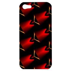 Fractal Background Red And Black Apple Iphone 5 Hardshell Case by Simbadda