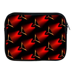 Fractal Background Red And Black Apple Ipad 2/3/4 Zipper Cases by Simbadda