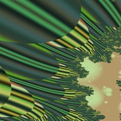 A Feathery Sort Of Green Image Shades Of Green And Cream Fractal Magic Photo Cubes