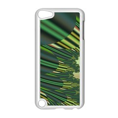 A Feathery Sort Of Green Image Shades Of Green And Cream Fractal Apple Ipod Touch 5 Case (white) by Simbadda