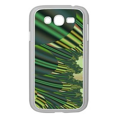 A Feathery Sort Of Green Image Shades Of Green And Cream Fractal Samsung Galaxy Grand Duos I9082 Case (white) by Simbadda