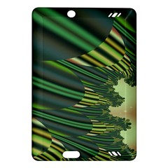 A Feathery Sort Of Green Image Shades Of Green And Cream Fractal Amazon Kindle Fire Hd (2013) Hardshell Case by Simbadda