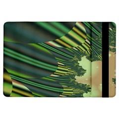 A Feathery Sort Of Green Image Shades Of Green And Cream Fractal Ipad Air Flip by Simbadda