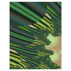 A Feathery Sort Of Green Image Shades Of Green And Cream Fractal Drawstring Bag (large) by Simbadda
