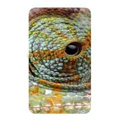 Macro Of The Eye Of A Chameleon Memory Card Reader by Simbadda